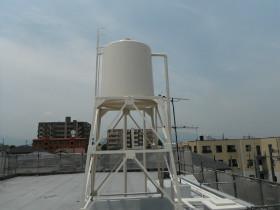 高架水槽 遮光塗装工事
