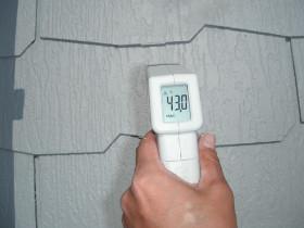 屋根の表面温度の計測